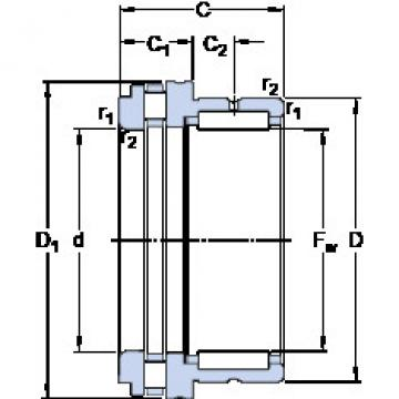 Cylindrical Bearing NKXR 40 SKF