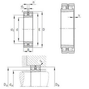 Cylindrical Bearing NN3017-AS-K-M-SP INA