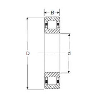Cylindrical Roller Bearings Distributior NUP 308 SIGMA