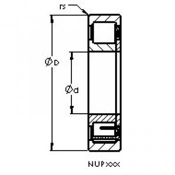 Cylindrical Roller Bearings Distributior NUP208 E AST