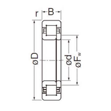 Cylindrical Roller Bearings Distributior NUP208EG NACHI