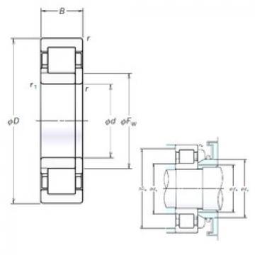 Cylindrical Roller Bearings Distributior NUP208EM NSK