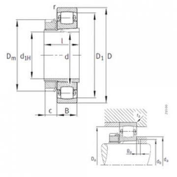 Spherical Roller Bearings 20212-K-TVP-C3+H212 FAG