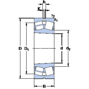 Spherical Roller Bearings 22252 CCK/W33 SKF