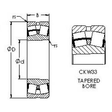 Spherical Roller Bearings 23032CKW33 AST