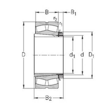 Spherical Roller Bearings 23052-K-MB-W33+OH3052-H NKE