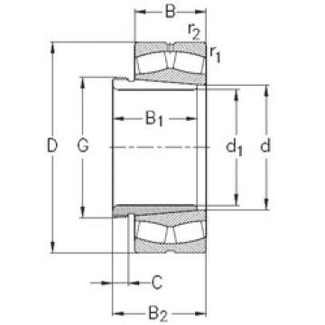 Spherical Roller Bearings 22208-E-K-W33+AH308 NKE