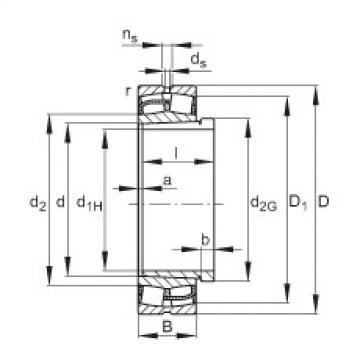 Spherical Roller Bearings 23056-E1-K + AH3056 FAG