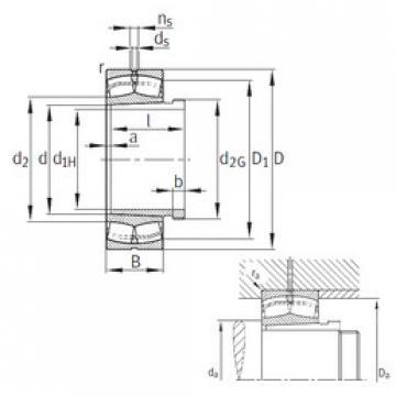 Spherical Roller Bearings 22334-K-MB+AH2334G FAG