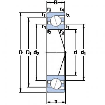 angular contact thrust bearings 71817 ACD/HCP4 SKF