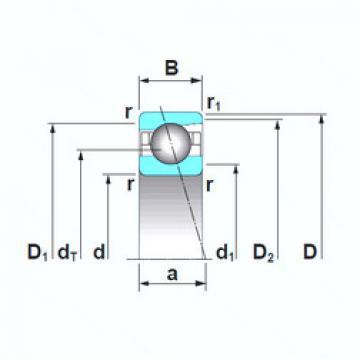 angular contact thrust bearings 7032CTRSU NSK