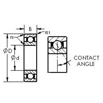 angular contact thrust bearings 71817AC AST