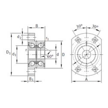 angular contact ball bearing installation ZKLFA1263-2RS INA