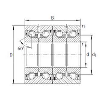 thrust ball bearing applications ZKLN2557-2RS-2AP INA