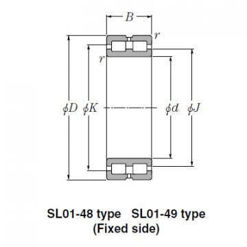 SL Type Cylindrical Roller Bearings NTN SL02-4922