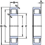 thrust ball bearing applications NU 322 ECP SKF