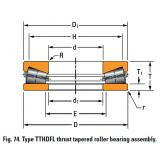 TTHDFL thrust tapered roller bearing D-3461-C