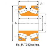 tdik thrust tapered roller bearings J435101dw J435167X