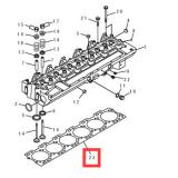 6742-01-5582 gasket for PC300-7 SAA6D104E cylinder head